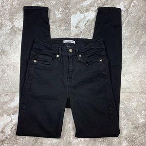 GOOD AMERICAN Good Legs Black Skinny Jeans Sz 0/25